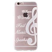 Funda Para Apple iPhone 6 iPhone 6 Plus iPhone 7 Plus iPhone 7 Transparente Diseños Funda Trasera Palabra / Frase Suave TPU para iPhone 7