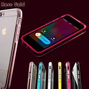 전화가 아이폰 6plus / 6S 플러스 투명 TPU 백 커버 케이스를 깜박 주도 (모듬 색상)
