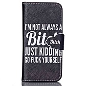 Etui Til Samsung Galaxy Samsung Galaxy Etui Lommebok / Kortholder / med stativ Heldekkende etui Ord / setning PU Leather til S6 edge plus / S6 / S5 Mini