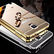 chapado espejo atrás con la caja del teléfono estructura de metal para la galaxia nota 4 / nota 5 (colores surtidos)