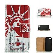 spesielle design farget tegning eller mønster grafisk lommeboken tilfeller med stativ i full kroppsvesker for iPhone 5 / 5s
