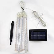 LED Solcellebelysning 144 LED Kjølig hvit Oppladbar / Dekorativ Batteri