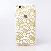 Funda Para Apple iPhone X iPhone 8 iPhone 6 iPhone 6 Plus Diseños Funda Trasera Flor Suave TPU para iPhone X iPhone 8 Plus iPhone 8