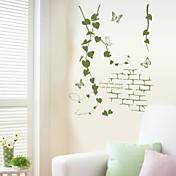 Romance Botánico Pegatinas de pared Calcomanías de Aviones para Pared Calcomanías Decorativas de Pared, Vinilo Decoración hogareña