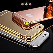 nuevo lujo chapado en estructura metálica de aluminio + acrílico de nuevo caso de cáscara de la cubierta para 5.5inch iphone6plus espejo