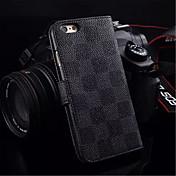 Etui Til Apple iPhone 6 / iPhone 6 Plus Kortholder / Lommebok / med stativ Heldekkende etui Geometrisk mønster Hard PU Leather til iPhone