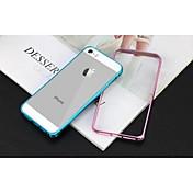 Para Funda iPhone 5 Antigolpes Funda Acolchada Funda Un Color Dura Metal iPhone SE/5s/5