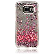 Para Funda Samsung Galaxy Líquido Funda Cubierta Trasera Funda Corazón Policarbonato Samsung S6 edge / S6 / S5 / S4