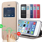 Etui Til Apple iPhone 8 iPhone 8 Plus Etui iPhone 5 iPhone 6 iPhone 6 Plus iPhone 7 Plus iPhone 7 med stativ med vindu Flipp Heldekkende