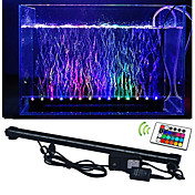 lm Luces llevadas del acuario 50 leds SMD 5050 Impermeable Control Remoto Decorativa RGB AC 100-240V
