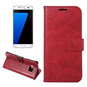 Para Samsung Galaxy S7 Edge Cartera / Soporte de Coche / con Soporte / Flip Funda Cuerpo Entero Funda Líneas / Olas Cuero Sintético