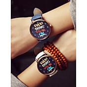 Mujer Reloj de Moda Reloj Casual Plastic Banda Negro / Blanco / Azul