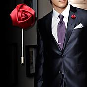 Hombre Mujer Broche Cristal Moda Legierung Rosas Flor Rojo Azul Rosa Wine Azul Claro Joyas Para Boda Fiesta Cumpleaños Pedida Regalo