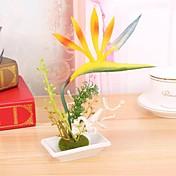 Gren Polyester Papegøyeblomst Bordblomst Kunstige blomster