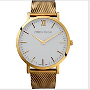 Hombre Reloj de Pulsera Reloj Casual Acero Inoxidable Banda Plata / Dorado