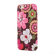 Para Funda iPhone 6 / Funda iPhone 6 Plus Diseños Funda Cubierta Trasera Funda Flor Dura Policarbonato iPhone 6s Plus/6 Plus / iPhone 6s/6