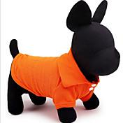 Perro Camiseta Ropa para Perro Casual/Diario Un Color Amarillo Rojo Verde Azul Rosa Disfraz Para mascotas