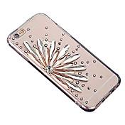 케이스 제품 iPhone 6 iPhone 6 Plus 크리스탈 투명 패턴 뒷면 커버 꽃장식 소프트 TPU 용 iPhone 6s Plus iPhone 6 Plus iPhone 6s 아이폰 6