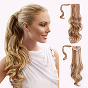 Adhesivo Coletas Pelo sintético Pedazo de cabello La extensión del pelo Ondulado