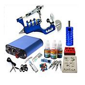 basekey tatuaje kit jh554 1 máquina rotativa con agarres de alimentación 3x10 ml de tinta