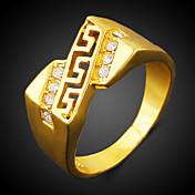 Anillos Zirconio Zirconia Cúbica Brillante 18K de oro Moda Dorado Joyas Fiesta 1 pieza