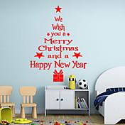 Navidad / Palabras y Frases / Día Festivo / Formas Pegatinas de pared Calcomanías de Aviones para Pared,vinyl 43*24cm