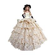 Corte Princesa Disfraces por Muñeca Barbie  Vestidos Guantes Sombreros por Chica de muñeca de juguete