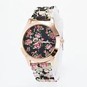Mujer Reloj de Moda Reloj Casual Cuarzo Reloj Casual Silicona Banda Flor Múltiples Colores