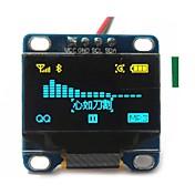 """0.96 """"pulgadas CII serie 128x64 OLED LCD OLED de color amarillo y azul I2C llevó el módulo de visualización de Arduino 51 msp420 stim32"""