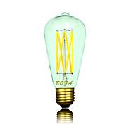 2200/2700/3000 lm B22 / E26 / E26 / E27 LED-globepærer ST64 6 LED perler COB Mulighet for demping / Dekorativ Varm hvit 220-240 V /