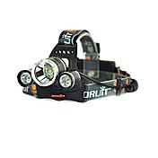 RJ-3000 Linternas LED Linternas de Cabeza LED 3000/5000 Lumens 4.0 Modo Cree XM-L T6 No incluye baterías Recargable Bisel de Impacto para