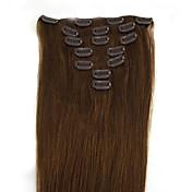 Clip de 70g 20 pulgadas 7pcs en la extensión del pelo humano humano recto muchos colores disponibles