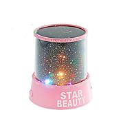 stjernehimmel projektor fargerik LED natt lampe (assortert farge,strømforsyning 3 AA Batteri)