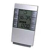 Humedad mete LCD digital de instrumentos de temperatura la temperatura del termómetro higrómetro reloj medidor de humedad