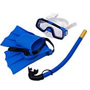 Snorkelpakker / Dykking Pakker - Dykkermaske, Dykkerfinner, snorkel - Tørrdrakt - topp, Kort blad Svømming, Dykking Silikon  Til Barn