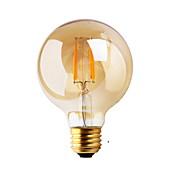 1pc ≥180 lm E26/E27 Bombillas de Filamento LED G80 2 leds COB Decorativa Blanco Cálido AC 220-240V