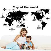 Calcomanías Decorativas de Pared - Mapa Pegatinas de pared Paisaje / Naturaleza muerta / De moda Sala de estar / Dormitorio / Comedor