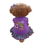 Perro Vestidos Ropa para Perro Animal Corazones Morado Disfraz Para mascotas