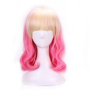 Pelo sintético pelucas Ondulado Natural Pelo Ombre Sin Tapa Peluca lolita Rosa