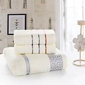 Frisk stil Badehåndkle Sett, Ensfarget Overlegen kvalitet 100% bomull Strik Håndkle