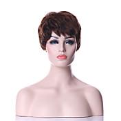 Mujer Pelucas sintéticas Sin Tapa Corto Rizado Marrón negro peluca Las pelucas del traje