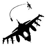 Caricatura Pegatinas de pared Calcomanías de Aviones para Pared Calcomanías Decorativas de Pared / Calcomanías Para la Refrigeradora,PVC