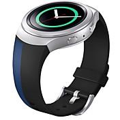 banda de deporte de reemplazo de silicona suave para el reloj inteligente de Samsung s2 engranajes (azul negro)
