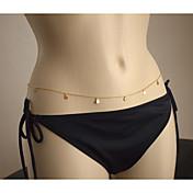 Mujer Cinturones metálicos Para Cuerpo Legierung Borla Sensual Moda Europeo Joyería Corporal Para Diario Casual Joyería de disfraz
