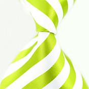 De Moda Blanco / Verde Tejido Hombre Tie Bar-1 pieza