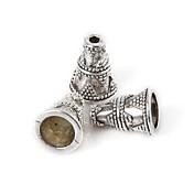beadia 10pcs granos de la aleación 9x12mm espaciadores de plata antigua perlas& perlas casquillo