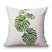 1pcs 녹색 식물 잎 패턴 코 튼 베개 커버 옷장 저장소