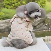 Perro Saco y Capucha Mono Ropa para Perro A Lunares Rosa Marrón Lana Polar Disfraz Para mascotas Hombre Mujer Bonito