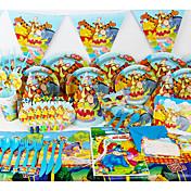 lujo Winnie Pooh las decoraciones de la fiesta de cumpleaños 78pcs niños evento la decoración del partido fuentes del partido 6 personas