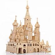 3D퍼즐 직쏘 퍼즐 나무 퍼즐 우드 모델 장난감 성 유명한 빌딩 건축 3D 시뮬레이션 나무 조각